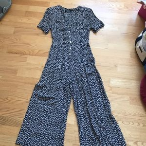 Laundry aShelli Segal Jumpsuit Coffee Cup Print